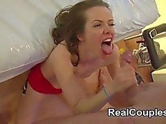 Couple die Sex gefilmt für die Webcam- Chat