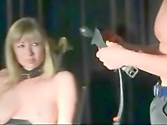 Dirty Blonde Bound Spanked And Toyed