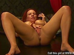 Faye Rampton fucks a monster cock dildo