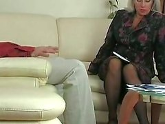 Hot blonde sexy foreplay