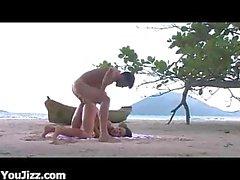 Exotic Beach Latina Screwing