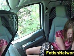 HelplessTeens Lizzie Bell rough outdoor