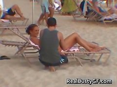 Busty teen found at beach sucks and gets part1
