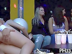 Golden-haired awesome girl engulfing dick with cream