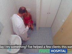 FakeHospital delgada rubia se hace creampied después follando en el hospital
