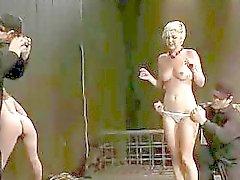 Franska flicka bundna och dubbel penetrerad