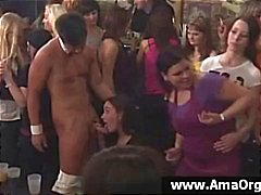 Party tytöterittäin suuri puolue vuorotellen imee strippareita kukko