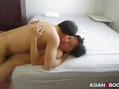 Asian MILF gets fucked good