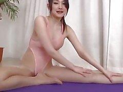 Yoga teacher fucked in swimsuit pantyhose