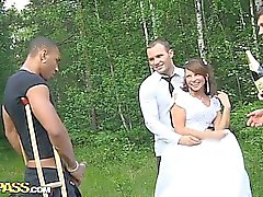Group sex at the wedding with dp