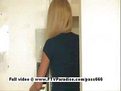 Brynn funny amateur blonde babe flashing