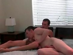 Horny gays jerk off dongs show off their ass holes