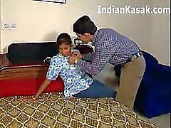 Indian Mature Aunty Fucking with cute Boy in bedroom