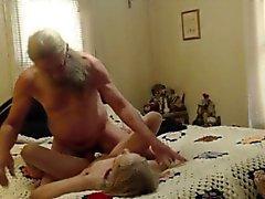Grandma and Grandpa having sex on cam