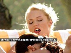 Judit and Isabella stunning lesbo girls anal licking