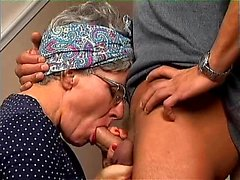 amateur old hot sexy granny seducing a young man