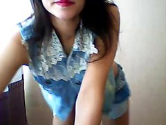 Skinny young brunette amateur puts on a fabulous show on the webcam