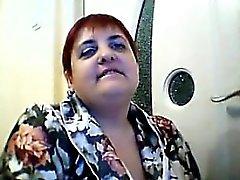 De gordura da mulher adulta da webcam