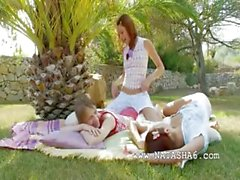 Incredible lesbian threesome from italia