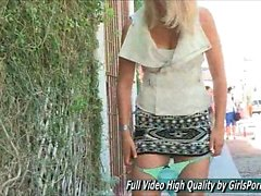 Lacie Teen Upskirt in Public Gorgeous Blonde