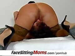 Huge natural tits bbw lady Eva facesitting a submissive boy