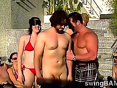 Sexy hotties and their couples have fun in XXX reality show