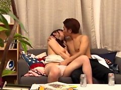 Asian japanese amateur riding cock anally