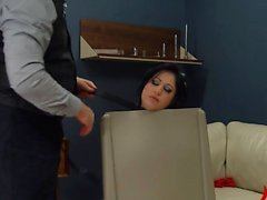 horny BDSM anal action in gangbang