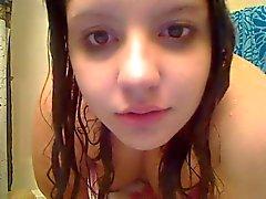 Kaunis nuori Chubber Suihkut ja näytelmiä