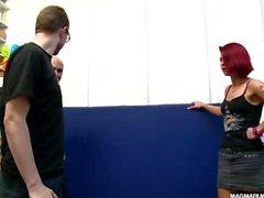 MAGMA FILM German Milf redhead casting for amateur cock