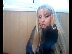 Webcam Girl Smoking Cigarette