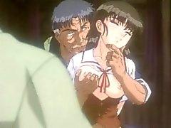 Roped Anime ve göğüsleri sıkışmış olur