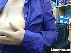 MILF Rubbing Her Big Boob And Nipple