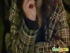 Young teen redhead sucks her boyfriend`s unwashed dick gladly