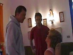 Mature Italian bitchie agrees to fuck two nasty guys with big dicks