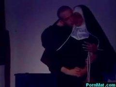 Azgın Alman rahibe lanet kilise adam