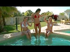 lesbian poolside