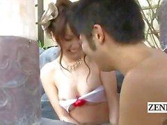 Subtitled outdoor Japanese kyabakura bathhouse fete