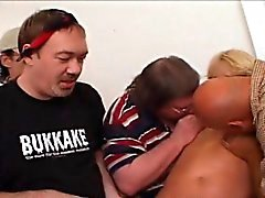 Anal Fuck Slut Wife Blonde Three Hole Gangbang