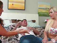 Horny Step Mom Bibi Noel, Raquel DeVine loves my cock