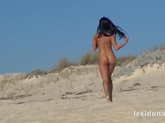 Fit Body Watch me have fun on the beach before I masturbate