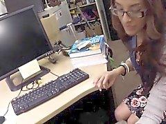Ausbrach studious Studentin Hahn saugen