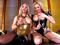Wank that ramrod to our large double DD's love muffins JOI femdom threatening FULL HD Porn Clips