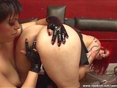 Hot kinky lesbian sex action