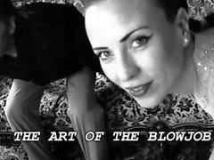 Sylvia Sucker's Fine Art Blowjob. CockWorship / Black and White Record.HD.