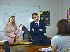 Hot student Carly Rae acquires screwed by a large dicked teacher