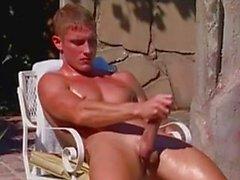 Joe Landon jack off by the Pool