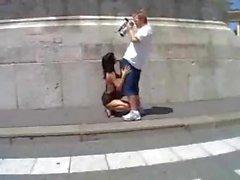 Hot Brunette Public Fuck in Italy