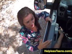 HelplessTeens Renee Roulette fucked for a ride