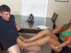 Pantyhose Footjob 5